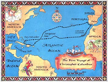 Map Of The World Before Columbus.References