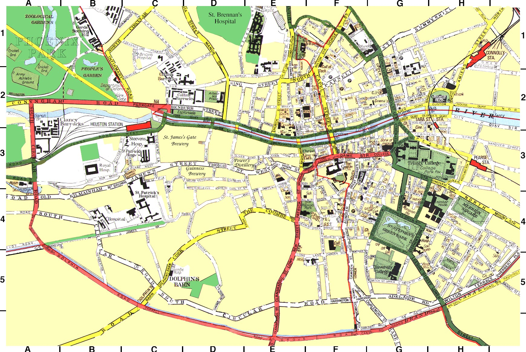St Catherines Clock Map of Dublin
